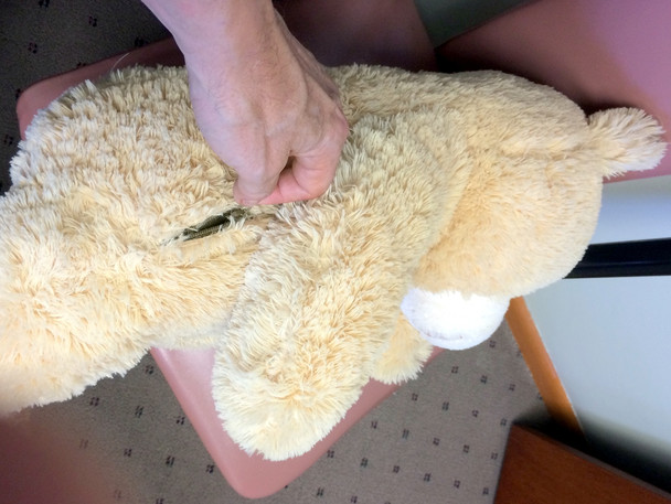 Add a Custom Made ZIPPERED POCKET - WE WILL PROFESSIONALLY STITCH IT TO YOUR STUFFED ANIMAL