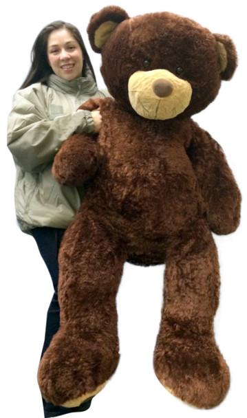 Giant 5 Foot Teddy Bear 60 Inch Soft Brown Oversized Big Plush Teddybear