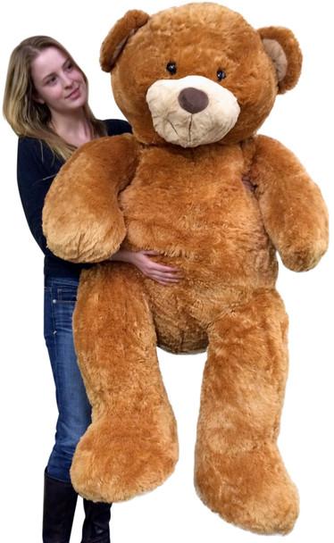 Giant  5 Foot Teddy Bear Big Soft 60 Inch Plush Animal Honey Brown Color
