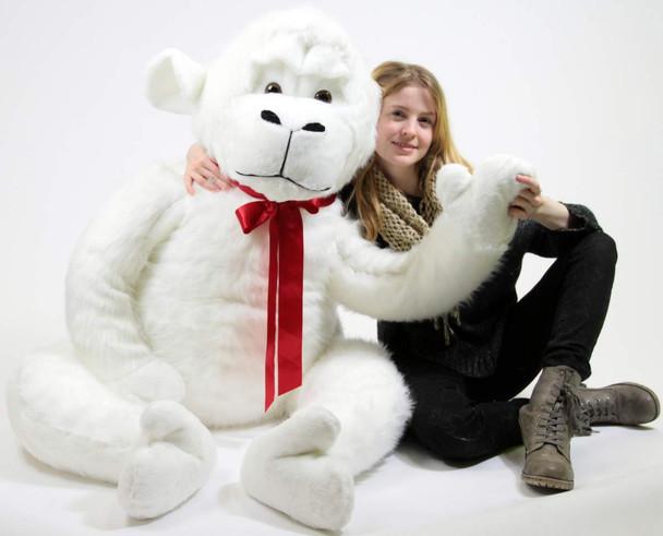 American Made White 6 Foot Giant Stuffed Gorilla 72 Inch Soft Huge Stuffed Monkey