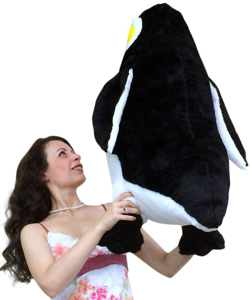 American Made Giant Stuffed Penguin 30 Inch Big Soft Stuffed Animal Made in USA America