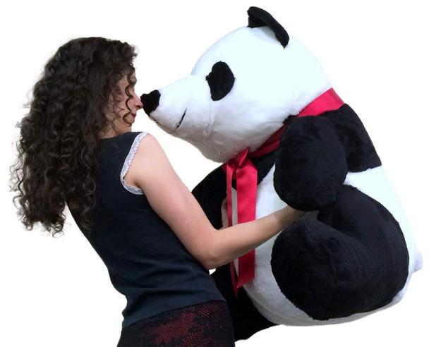 American Made Giant Stuffed Panda 32 Inch Huge Soft Plush Bear Made in USA America