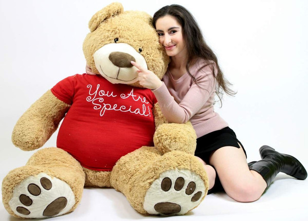 You Are Special 5 Foot Giant Teddy Bear Soft Tshirt Says YOU ARE SPECIAL