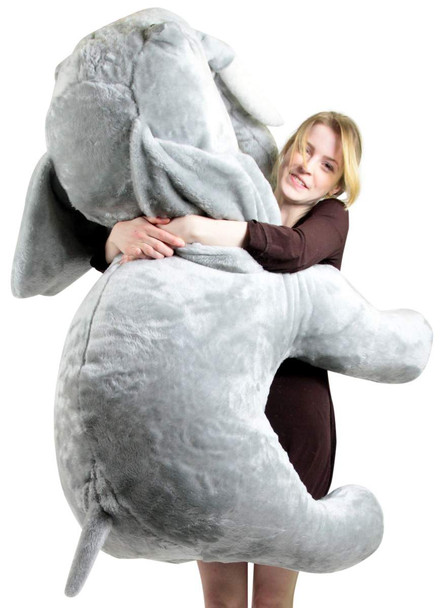 Giant Stuffed Love Elephant 48 Inch Holds Embroidered Heart Every Beauty Deserves A Beast