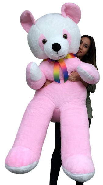 American Made Giant Soft Stuffed Pink Panda 6 Foot Bear 72 Inch Made in USA