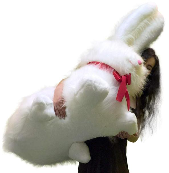 Big Plush Giant Stuffed Bunny Soft American Made Rabbit 40 inch Huge Stuffed Animal