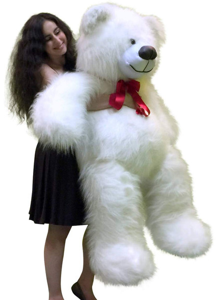 Big Plush 5 Foot Giant White Teddy Bear 60 Inch Soft Made in USA