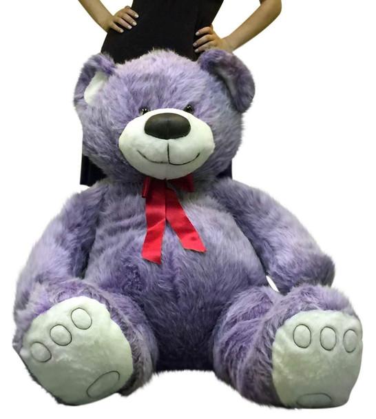 Big Plush 5 Foot Giant Purple Teddy Bear Soft 60 Inch Large Stuffed Animal