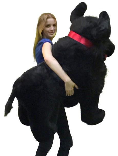 American Made Giant Stuffed Black Buffalo 44 Inches Soft Big Plush Animal Made in USA