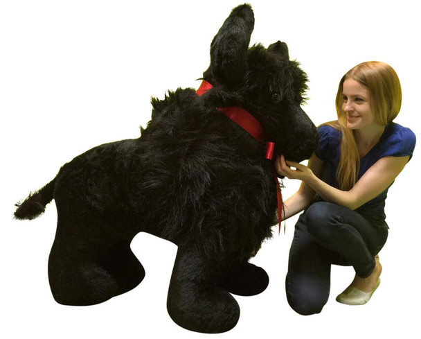 American Made Giant Stuffed Black Buffalo 44 Inches Soft Big Plush Animal Made in USA