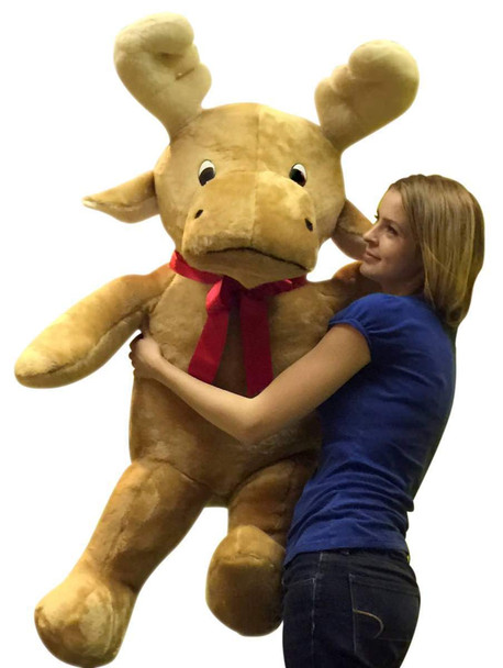 American Made Big Plush 4 Foot Moose Soft Giant Stuffed Reindeer 50 Inches