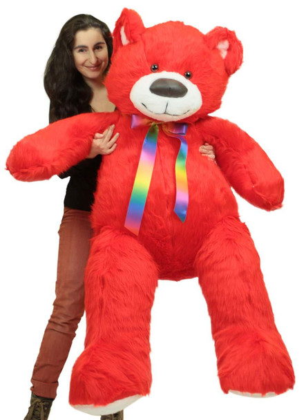 5ft red teddy bear