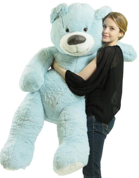 American Made Giant Blue 5 Foot Teddy Bear Soft 60 Inches 5 Feet Tall