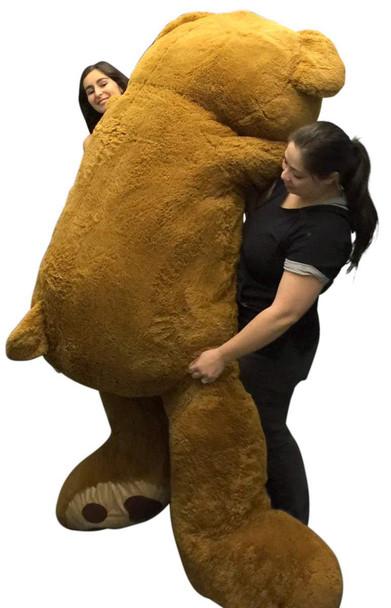 Giant 8 Foot Teddy Bear 96 Inch Soft Big Plush Brown Oversized Teddybear