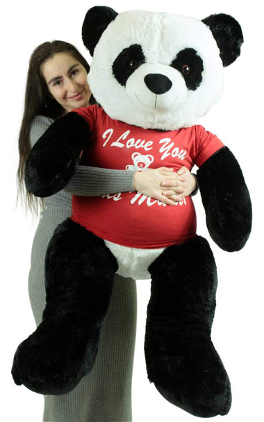 Giant Stuffed Panda 48 Inch Soft 4 Foot Teddy Bear, I Love You This Much
