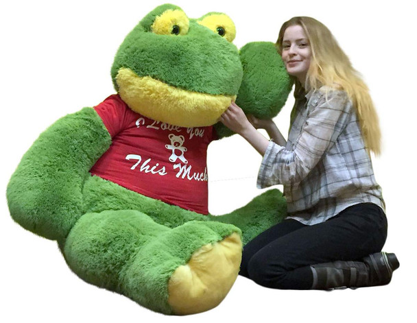 Giant Stuffed Frog 60 Inches Soft 5 Foot Big Plush I Love You This Much