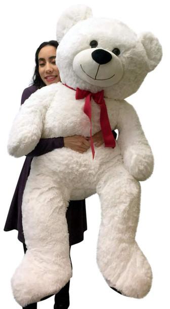 Giant Valentine's Day Teddy Bear 52 Inch White Soft, Premium Quality Big 4 foot  Teddybear