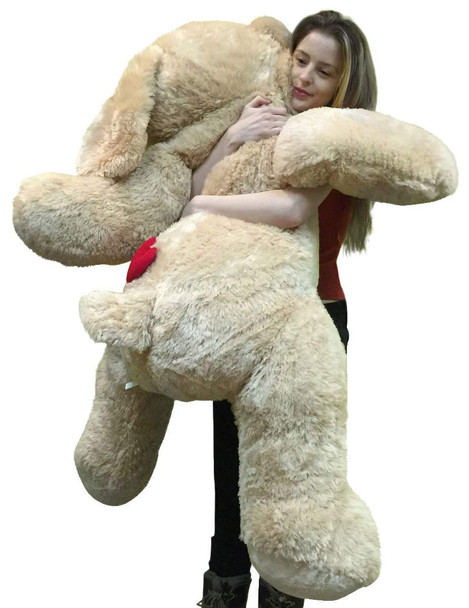 Big Plush 5 Foot Stuffed Puppy Dog Soft 60 Inch, Red Heart on Butt to Express Love