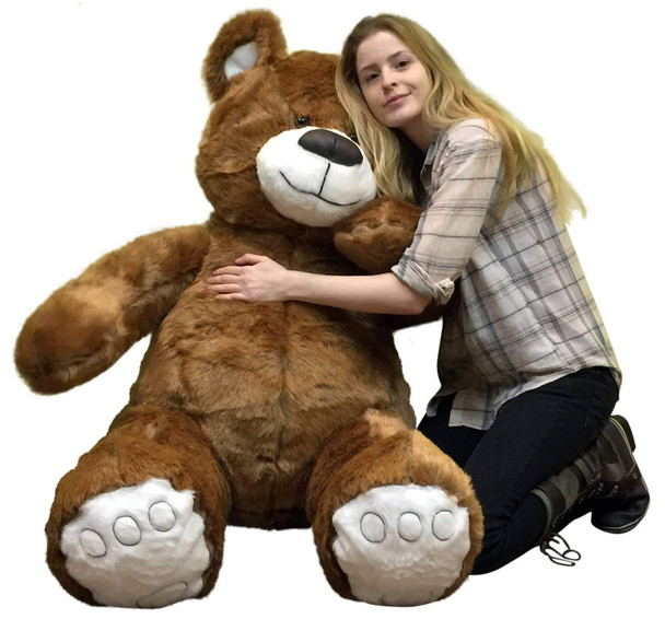 Giant Brown Teddy Bear 5 Foot American Made Soft, Made in USA Stuffed Animal