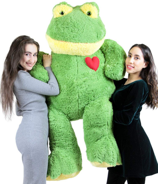 Giant Stuffed Frog 60 Inch Soft 5 Foot Plush Animal, Heart on Chest to Express Love