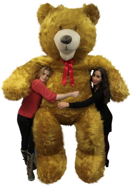American Made Giant 9 Foot Teddy Bear Soft 108 Inches Golden Brown Long Fur Made in USA