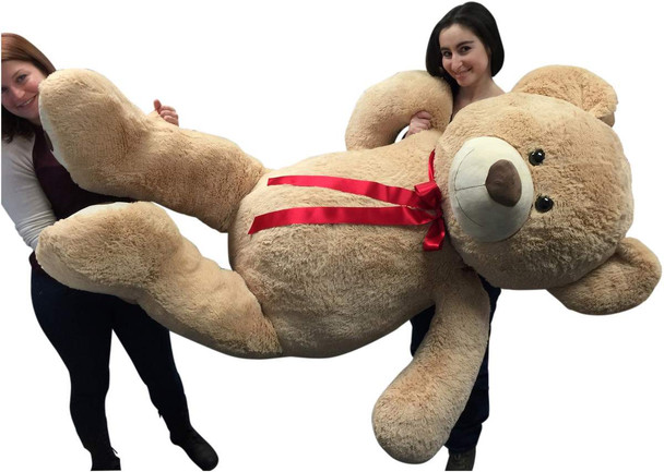 Big Plush Giant 6 Ft Teddy Bear 72 Inch Tan Soft Oversized Teddybear Weighs 20 Pounds