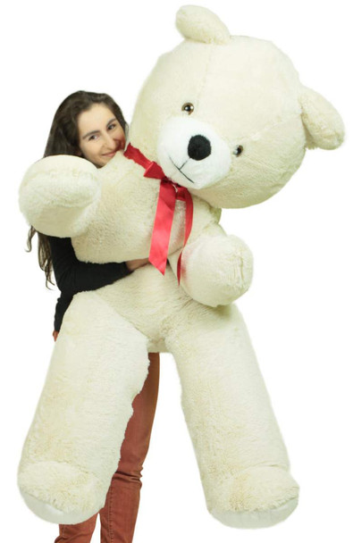 Big Plush Giant 6 Ft Teddy Bear 72 Inch White Soft Oversized Teddybear Weighs 20 Pounds