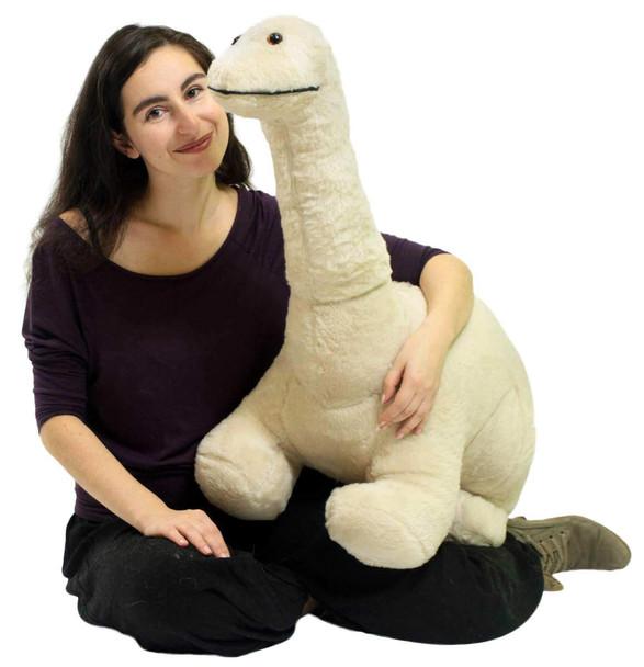 American Made Big Plush Junior Dinosaur Soft Stuffed Brontosaurus 3 Feet Long 2 Feet Tall Made in USA