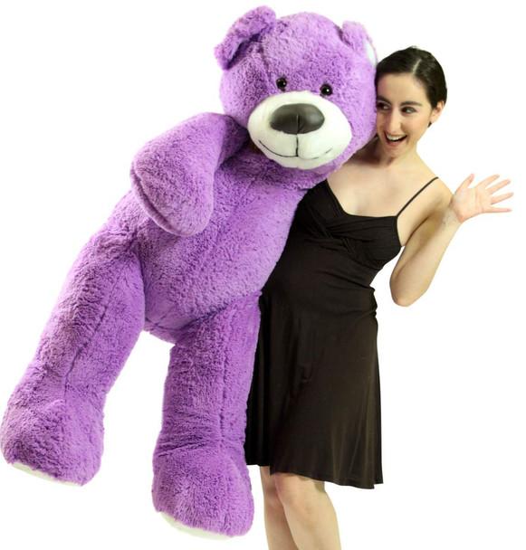 5 Foot Super Soft Purple Teddy Bear Big Plush 60 Inch Large Stuffed Animal Made in USA