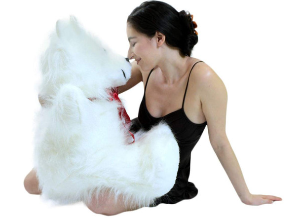 American Made Giant  White Teddy Bear 36 inches -Soft Large Stuffed Animal Made in the USA