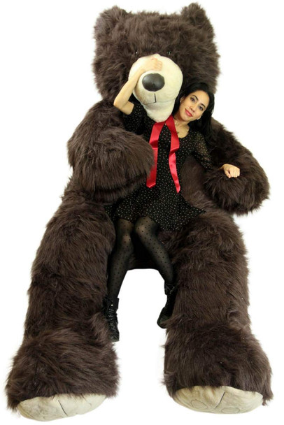 American Made 9 Foot Teddy Bear Huge Soft 108 Inch Giant Teddybear Chocolate Brown Color Made in USA
