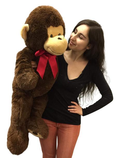 Big Plush 3 Foot Stuffed Monkey Extra Soft 36 inch Brown Jumbo Stuffed Animal