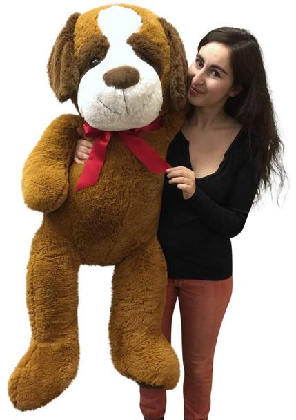 Giant Stuffed Saint Bernard 50 Inch Soft Big Plush Dog Jumbo Stuffed Animal