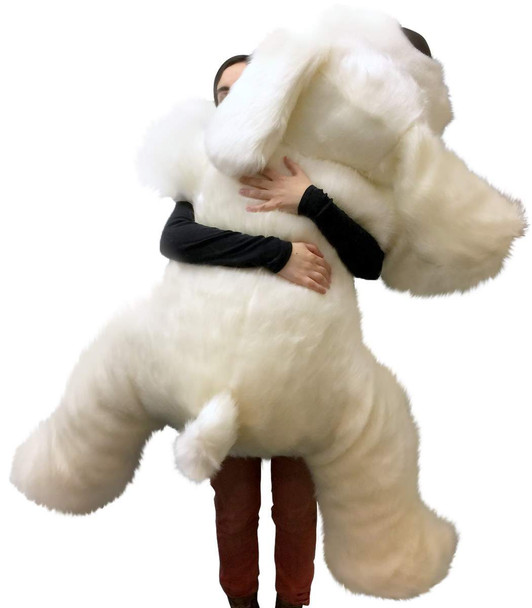 American Made Giant Stuffed 5 Foot Dog 60 Inch Soft Large Plush Puppy White Color