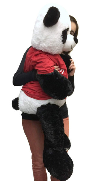 3 Foot Giant Stuffed Panda 36 Inch Soft Wears Removable Tshirt I Love You This Much