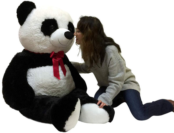 5 Foot Giant Stuffed Panda Soft 60 Inch Big Plush Premium Teddy Bear