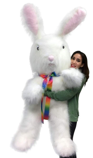 American Made 6 Foot Giant Stuffed Bunny 72 Inch Soft Big Plush Six Foot Rabbit Made in USA