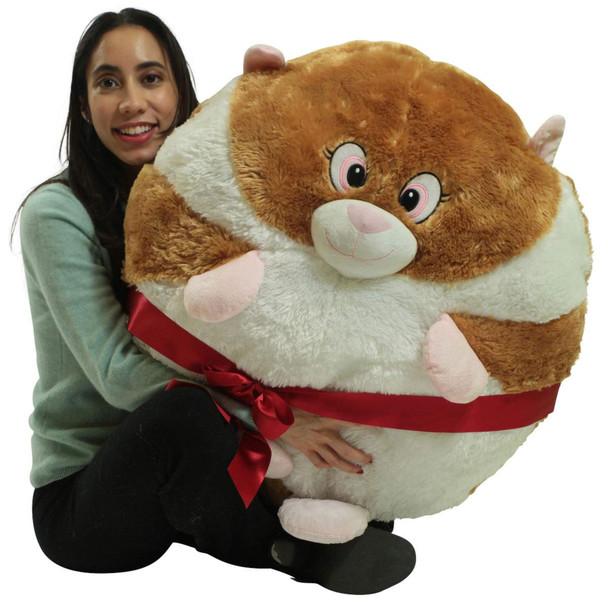 Big Plush Hamster Smush Ball Soft 30 Inch Large Stuffed Hamster
