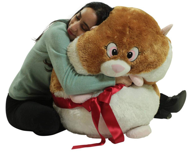 Big Plush Hamster Smush Ball Soft 30 Inch Large Stuffed Hamster
