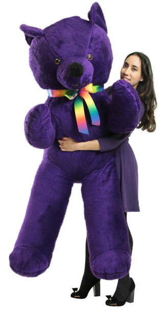 American Made 6 Foot Giant Purple Teddy Bear Soft 72 Inch Life Sized Stuffed Animal