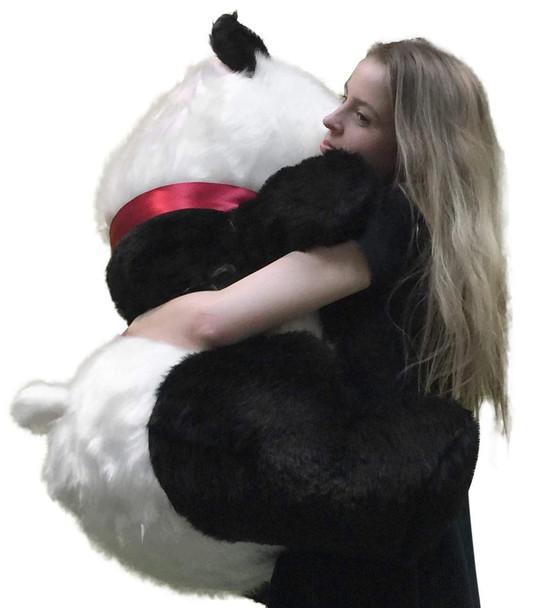 Big Plush Giant Stuffed Panda 34 Inch Soft Bear, Made in USA America