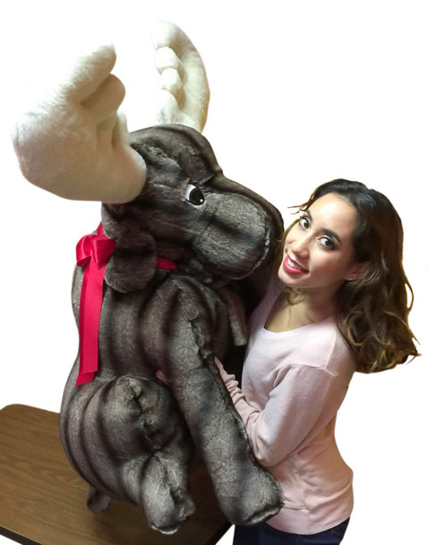 American Made Giant Stuffed Moose Huge Stuffed Animal 45 Inches Tall and Wide