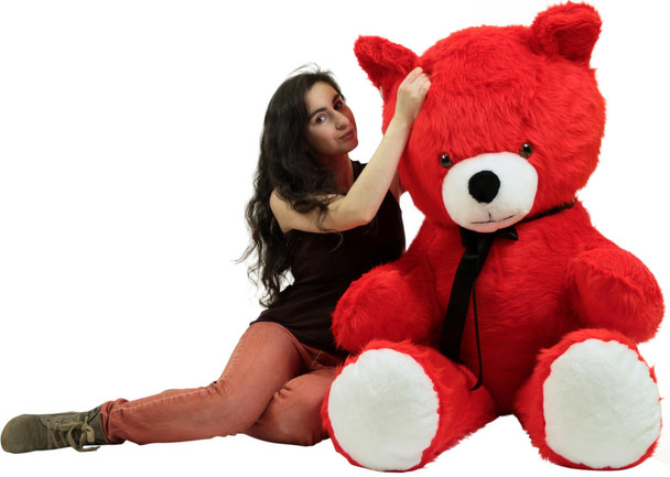 Big Plush Giant 6 Foot Red Teddy Bear 72 Inches Soft Made in USA