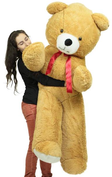 Big Plush 6 Foot Giant Brown Teddy Bear Soft 72 Inch Life Sized Stuffed Animal Made in USA