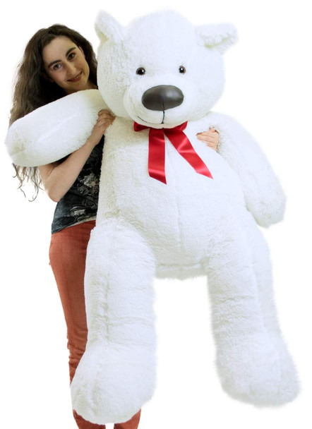 5ft white teddy bear