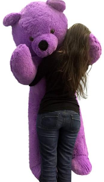 Big Plush 6 Foot Purple Teddy Bear Soft 72 Inch Life Size Stuffed Animal Made in USA