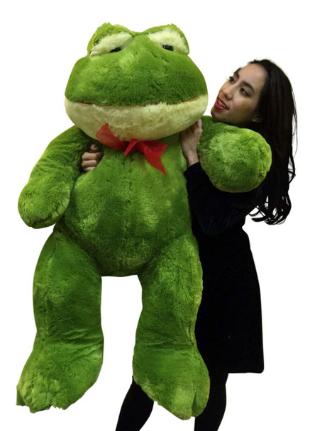 Giant Stuffed Frog 48 Inches Soft Green Color 4 Foot Big Plush Animal