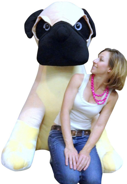 Giant Stuffed Dog Pug 5 Feet Tall Soft 60 Inches Huge Big Plush Animal