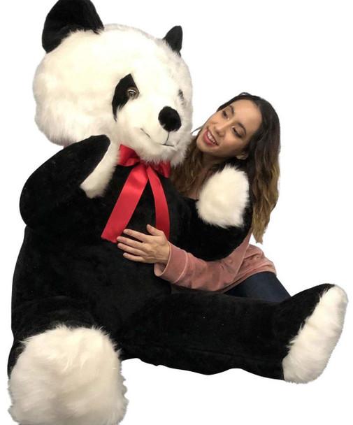 Big Plush 6 Foot Stuffed Panda Bear, Giant Six Feet Tall Teddy Bear Huge Soft Plush Animal Made in USA
