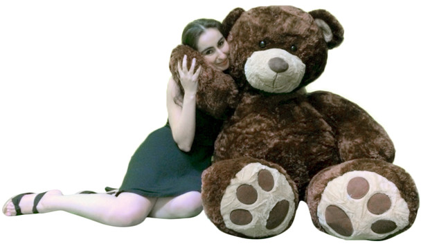 Big Plush Valentine's Day 5 Foot Brown Giant Teddy Bear, Soft Life Size Hug Buddy, Perfect Gift for Valentines Day or Any Day